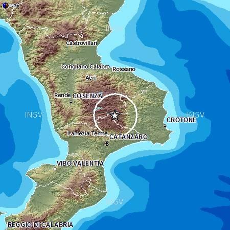 Cartina Fisica Della Calabria.Paura Del Terremoto Il Nuovo Corriere Della Sila